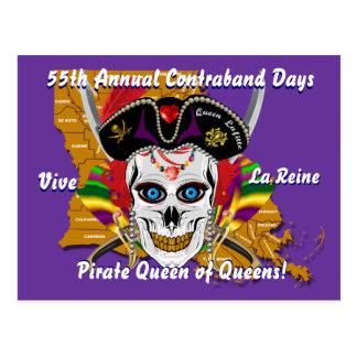 Las fechas del cambio de la reina del pirata postal