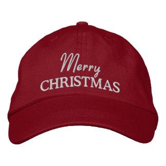 Las Felices Navidad bordaron la gorra de