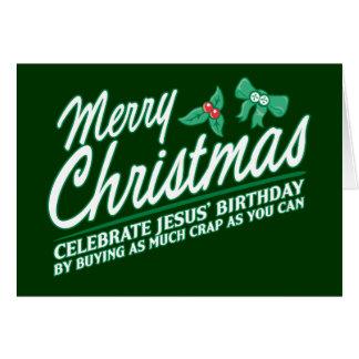Las Felices Navidad - celebre el cumpleaños de Tarjeta