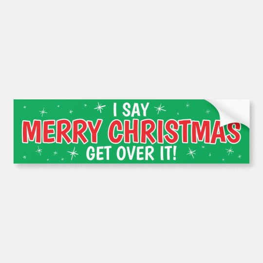 ¡Las Felices Navidad consiguen sobre él! Pegatina Para Coche