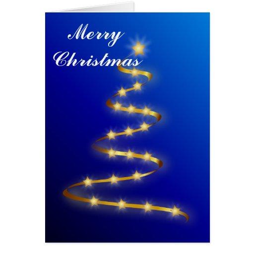 Las Felices Navidad, personalizan el texto dentro  Tarjeta