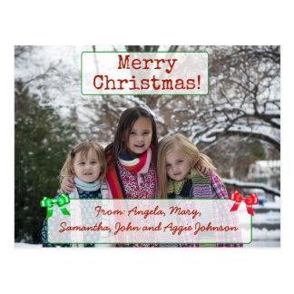 Las Felices Navidad personalizaron la postal de la