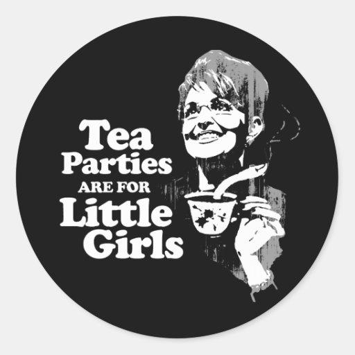 Las fiestas del té están para las pequeñas pegatinas redondas