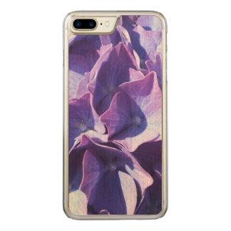 Las flores azules del Hydrangea se cierran encima Funda Para iPhone 7 Plus De Carved