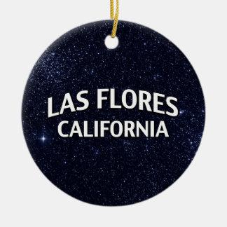 Las Flores California Ornamentos De Navidad
