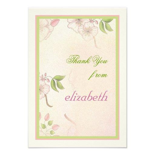 Las flores de cerezo le agradecen cardar comunicados personalizados