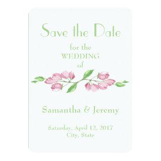 Las flores de la flor de cerezo de la primavera invitación 12,7 x 17,8 cm