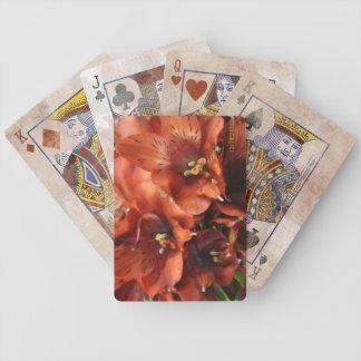 Las flores del boda apenaron la baraja de naipe baraja de cartas bicycle