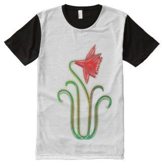 Las flores elegantes del precio bajo NOVINO Camiseta Con Estampado Integral