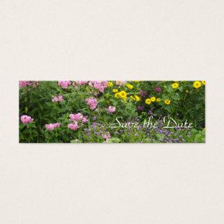 Las flores salvajes - ahorre la fecha tarjeta de visita mini