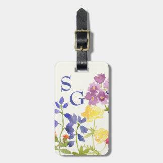 Las flores salvajes personalizaron la etiqueta