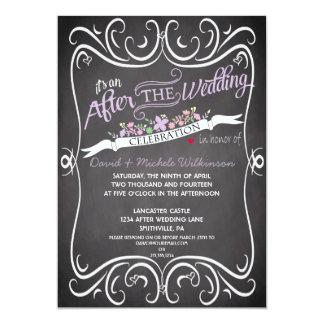 Las flores y el boda del poste de la pizarra de invitación 12,7 x 17,8 cm