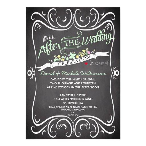 Las flores y el boda del poste de la pizarra de lo anuncio personalizado