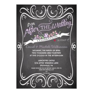 Las flores y el boda del poste de la pizarra de lo anuncio