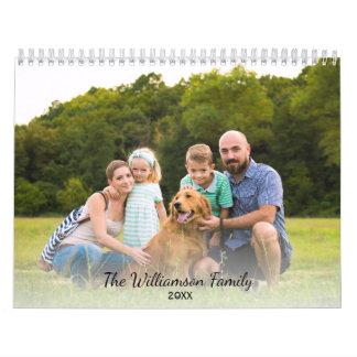 Las fotos de familia de encargo hacen su propio calendario de pared