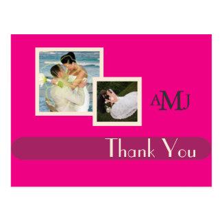 Las fotos del boda le agradecen las postales, postal