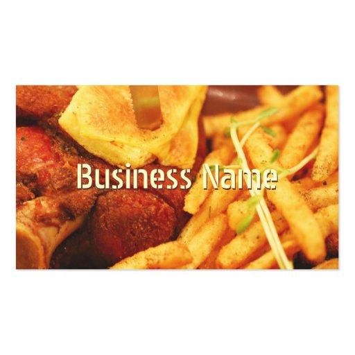 Las fritadas barran y asan a la parrilla la tarjet plantilla de tarjeta de negocio