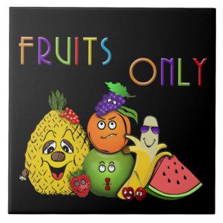 las frutas se dirigen las decoraciones azulejo cuadrado grande