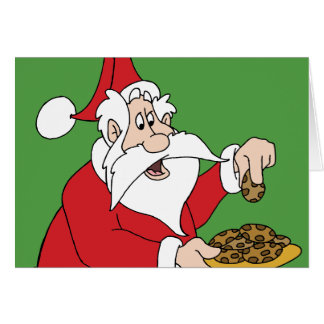 Las galletas de Santa Tarjeta De Felicitación
