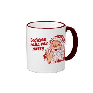 Las galletas hacen Santa gaseoso Taza De Dos Colores