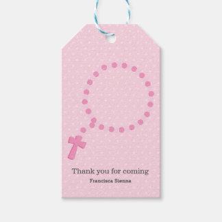 Las gotas del rosario * elija el color de fondo etiquetas para regalos
