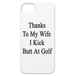 Las gracias a mi esposa golpeo extremo con el pie funda para iPhone SE/5/5s