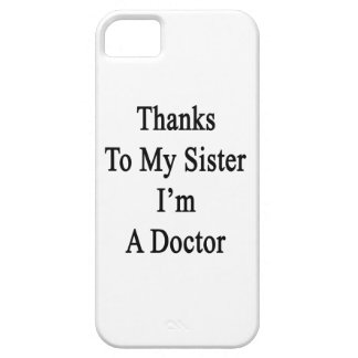 Las gracias a mi hermana soy doctor iPhone 5 protectores