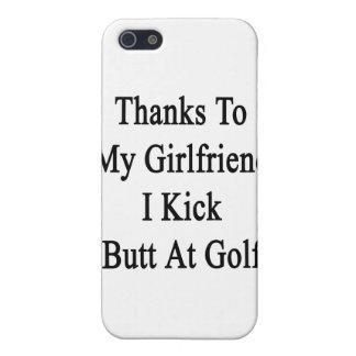 Las gracias a mi novia golpeo extremo con el pie iPhone 5 protectores