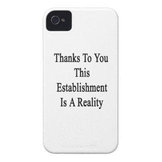 Las gracias a usted este establecimiento son una iPhone 4 Case-Mate funda