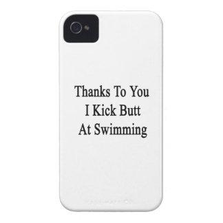 Las gracias a usted golpeo extremo con el pie en Case-Mate iPhone 4 carcasa