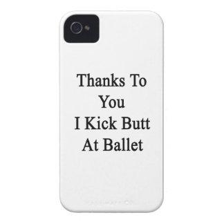 Las gracias a usted golpeo extremo con el pie en iPhone 4 Case-Mate fundas