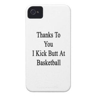 Las gracias a usted golpeo extremo con el pie en iPhone 4 cárcasa