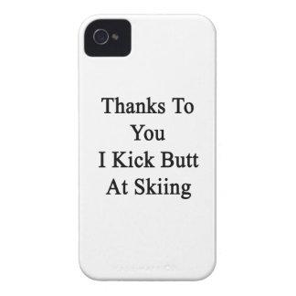 Las gracias a usted golpeo extremo con el pie en Case-Mate iPhone 4 coberturas