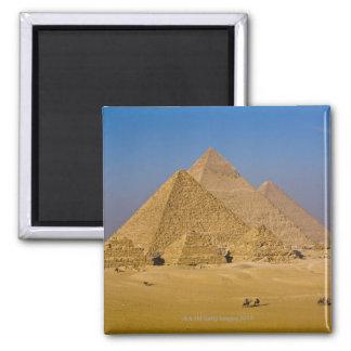 Las grandes pirámides de Giza, Egipto Imán Cuadrado