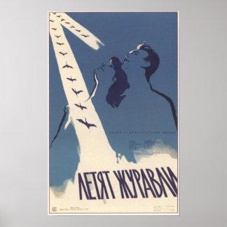 """""""Las grúas están volando"""" la película soviética 19 Posters"""