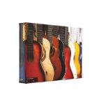 Las guitarras envolvieron la lona lona estirada galerias