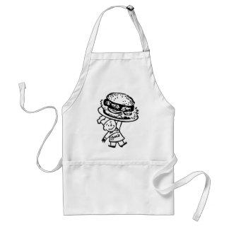 Las hamburguesas del vintage de Zim retro del kits Delantal