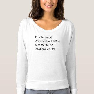 Las hembras no oscilan ningún camisetas del abuso