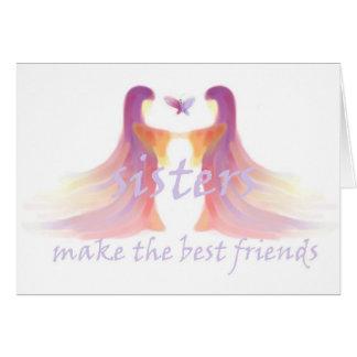 Las hermanas hacen a los mejores amigos tarjeta de felicitación