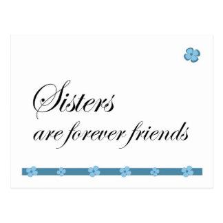 Las hermanas son para siempre amigos postal