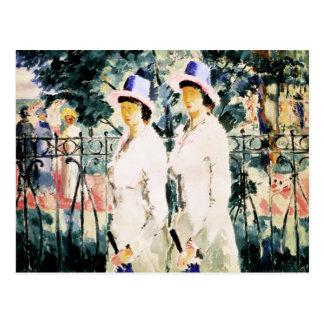 Las hermanas tarjeta postal