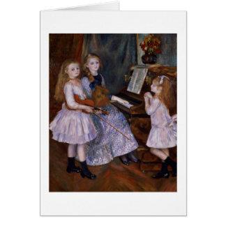Las hijas de Catulle Mendes en el piano, 1888 Felicitaciones