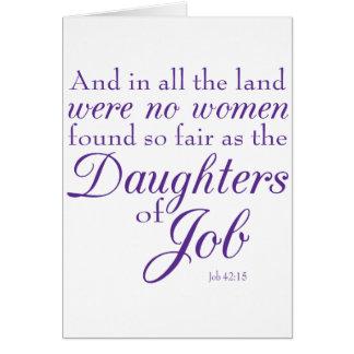 Las hijas del trabajo tarjetón