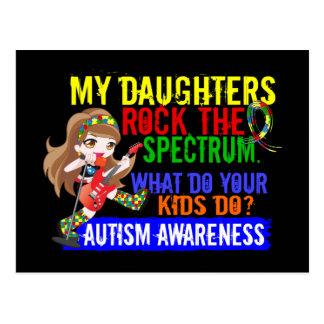 Las hijas oscilan el autismo del espectro tarjetas postales