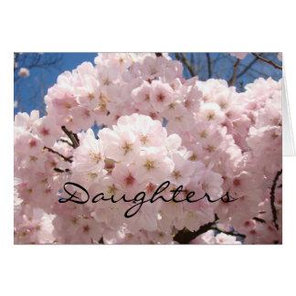 ¡Las hijas son el mejor regalo de la vida! Flor de Tarjeta De Felicitación