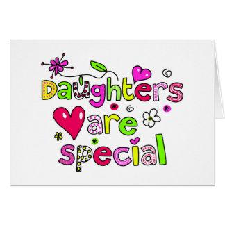 Las hijas son especiales felicitaciones