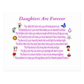 Las hijas son para siempre postal