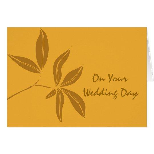 Las hojas de otoño mezclaron el boda de la familia tarjeta de felicitación