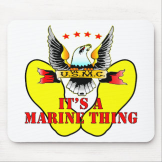 Las huellas amarillas del USMC es una cosa marina Alfombrilla De Ratón