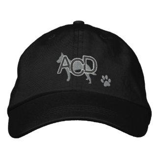 Las iniciales australianas del perro del ganado bo gorra de beisbol bordada